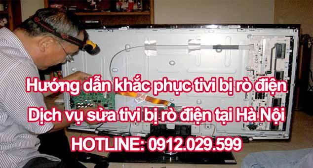 Sửa tivi bị rò điện