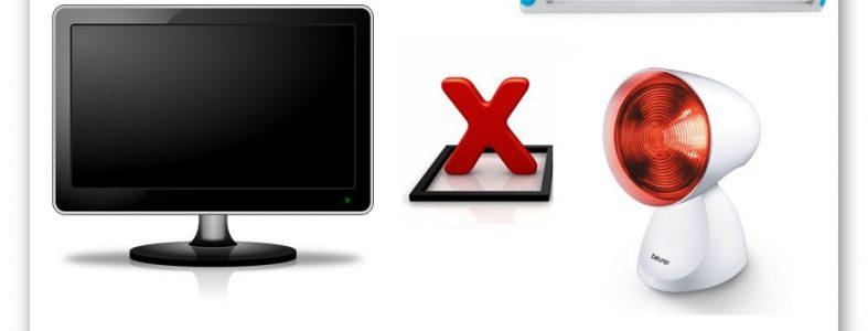 Kiểm tra thiết bị hồng ngoại khi tivi không tắt được